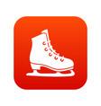 skates icon digital red vector image vector image