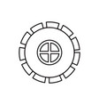 sketch silhouette gear wheel pinion icon vector image