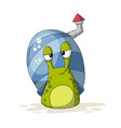 snail with house vector image