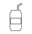 soda icon vector image vector image