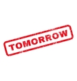 Tomorrow Rubber Stamp vector image vector image