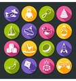 Toys Round Icons Set vector image vector image