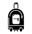 travel bag holiday icon simple black style vector image