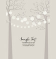 trees and chain of lanterns vector image vector image