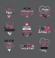 valentine day labels badges and icons love vector image vector image
