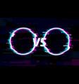 vs versus glitch circles tv digital noise screen vector image vector image