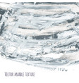 white gray black scribble marble watercolor vector image