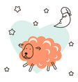 cute baby lamb cartoon t shirt vector image