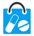 Drugs Shopping Bag Icon vector image