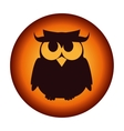 poster halloween party owl design isolated vector image