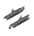submarine isometric flat ship design icon vector image