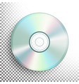 cd dvd disc realistic compact disc vector image