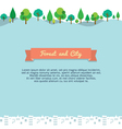 Forest And City Background vector image