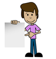 Cartoon man with a white background vector image