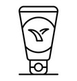 aloe tube cream icon outline style vector image