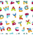 alphabet alphabetic signs for children to learn vector image vector image