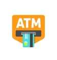 ATM sign cash machine vector image vector image