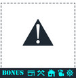 attention icon flat vector image vector image