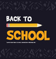 back to school design blackboard banner vector image vector image