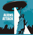 banner on theme aliens attack in usa vector image vector image