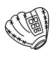 baseball glove equipment icon vector image vector image