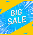 big sale advertising comic concept vector image vector image