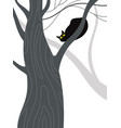 black cat on a tree vector image