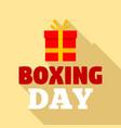 boxing day logo set flat style vector image