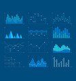 business charts and graphs infographic elements vector image vector image