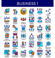 business essential icons vector image vector image