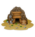 cartoon cave entrance vector image
