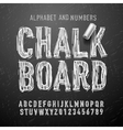 Chalk alphabet letters and numbers