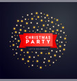christmas and new year poster or banner with red vector image