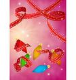christmas celebration card vector image vector image