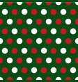 christmas polka dots background vector image vector image