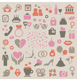 Collection love vector image vector image