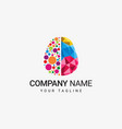 colorful brain logo vector image