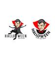 count dracula halloween vampire character vector image
