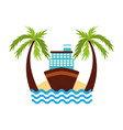 cruise boat on the beach vector image