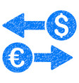 currency transfers grunge icon vector image vector image