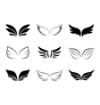 Different Wing Designs vector image vector image