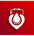 Donate blood concept design on red background vector image vector image