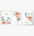 elegant watercolor floral card wedding invite vector image vector image