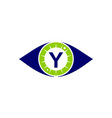 eye care solutions letter y vector image