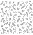 floral seamless pattern hand drawn herbs vector image vector image