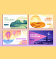 four web travel templates with text copy space vector image