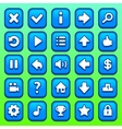 Game blue square buttons set vector image vector image
