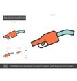 Gas pump nozzle line icon vector image vector image