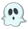 ghost icon cartoon style vector image