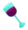 Glass of wine icon cartoon style vector image vector image